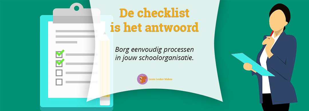 Borg eenvoudig processen in jouw schoolorganisatie met een checklist
