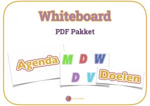 Whiteboard in de klas gebruiken voor planning met dit PDF pakket