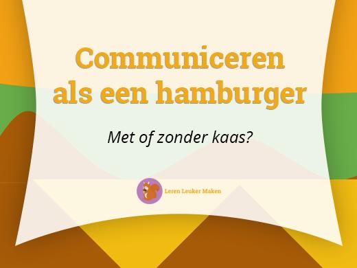 Communiceren als een hamburger - Header