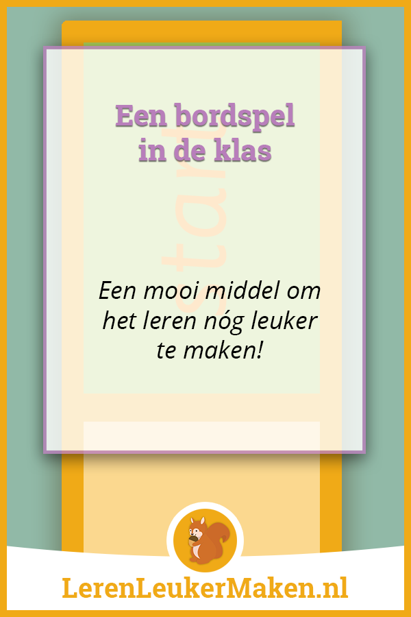 Bordspel in de klas