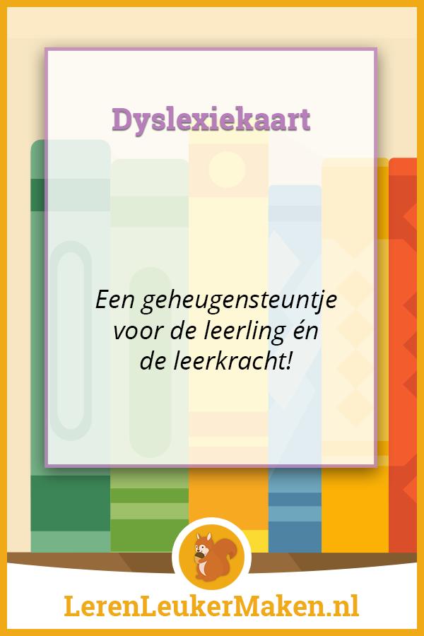 Dyslexiekaart Pinterest