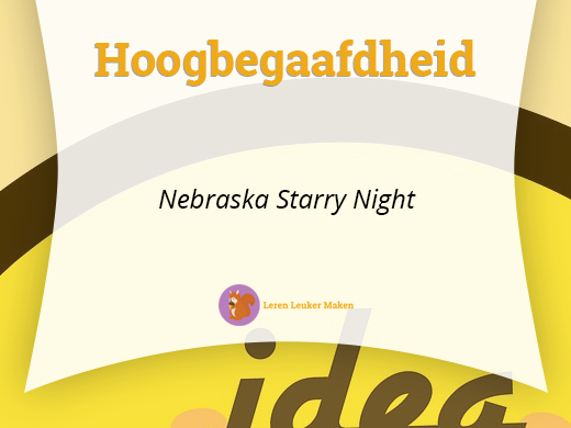 nebraska starry night hoogbegaafdheid
