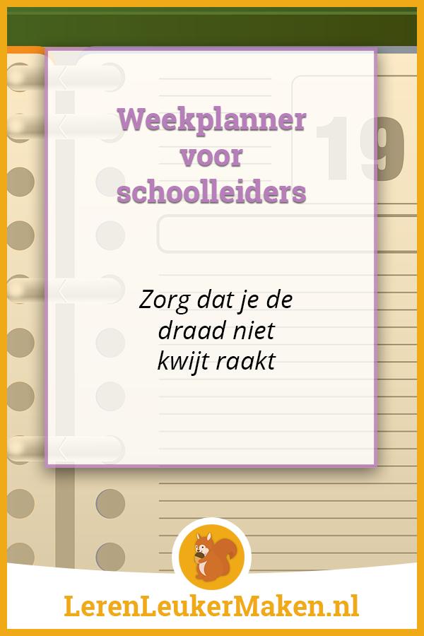 Weekplanner voor schoolleiders