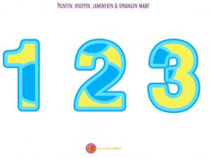 Cijfers blauw & geel