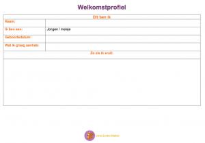 Welkomstprofiel document