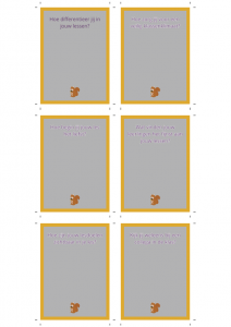 Gesprekskaartjes Differentiatie