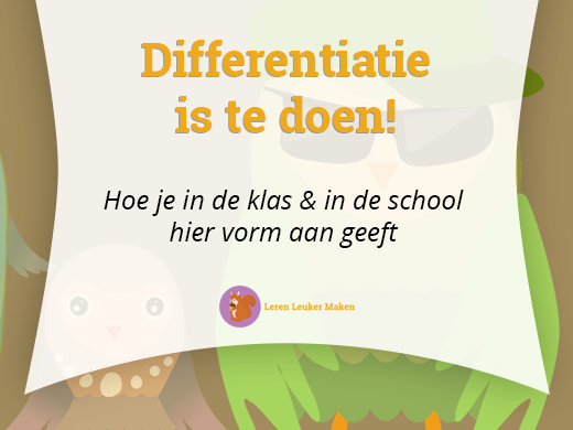 Differentiatie is te doen!