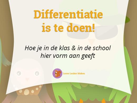 Differentiatie is te doen!