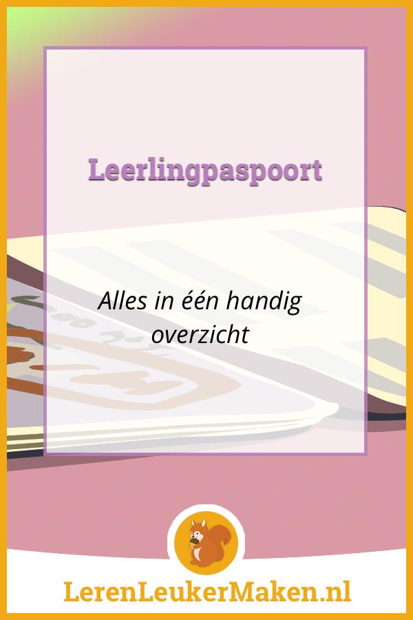 Het leerling paspoort - alles in één overzicht!